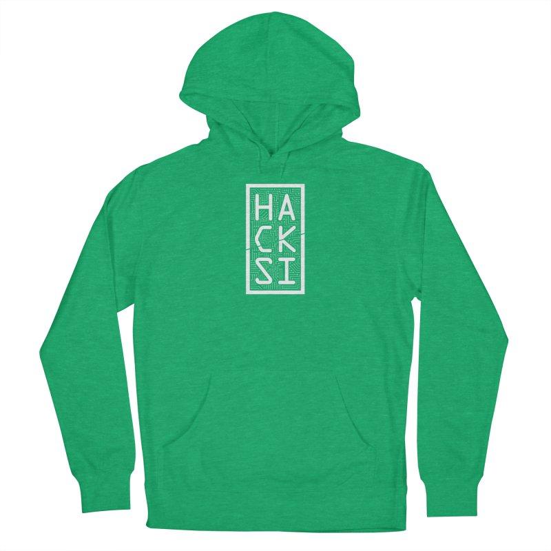 White HackSI Logo Men's Pullover Hoody by The HackSI Shop