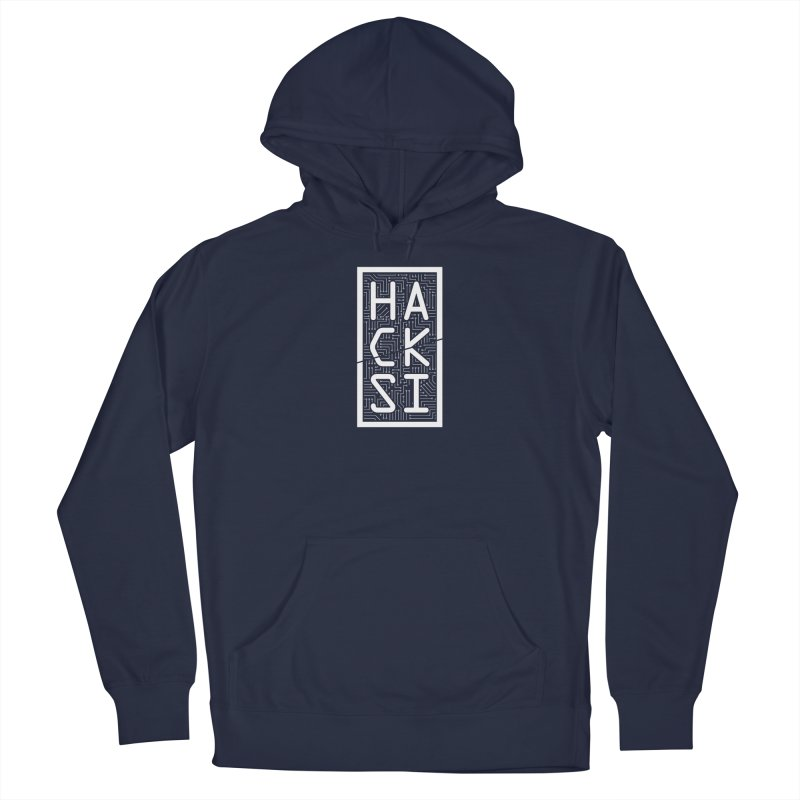 White HackSI Logo Men's Pullover Hoody by The HackSI Shop