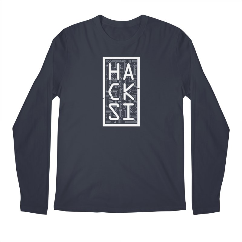 White HackSI Logo Men's Regular Longsleeve T-Shirt by The HackSI Shop