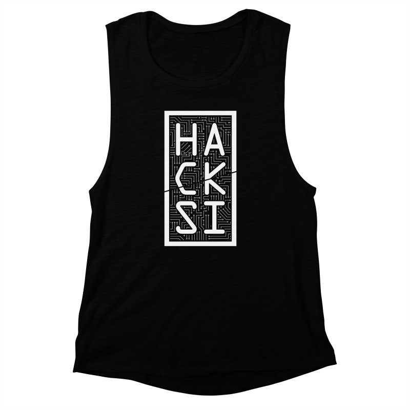 White HackSI Logo Women's Muscle Tank by The HackSI Shop