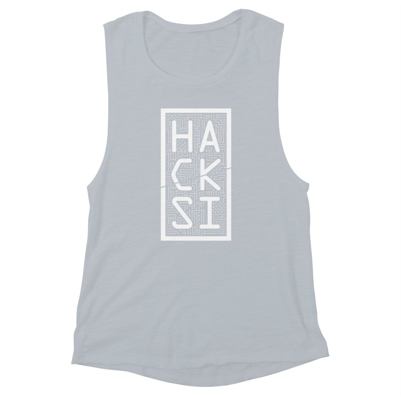 White HackSI Logo Women's Muscle Tank by The HackSI Shop