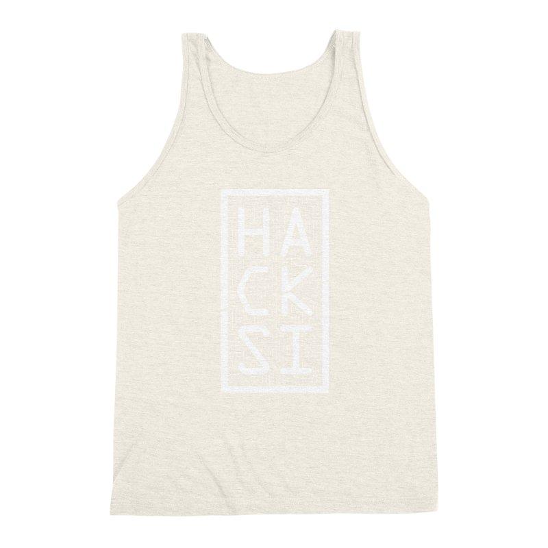 White HackSI Logo Men's Triblend Tank by The HackSI Shop