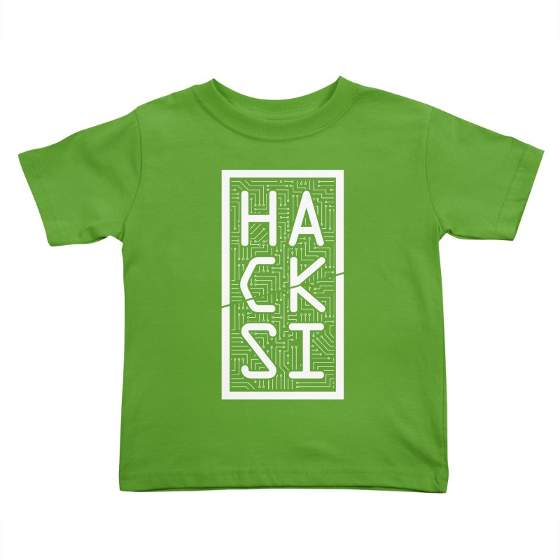 White HackSI Logo Kids Toddler T-Shirt by The HackSI Shop