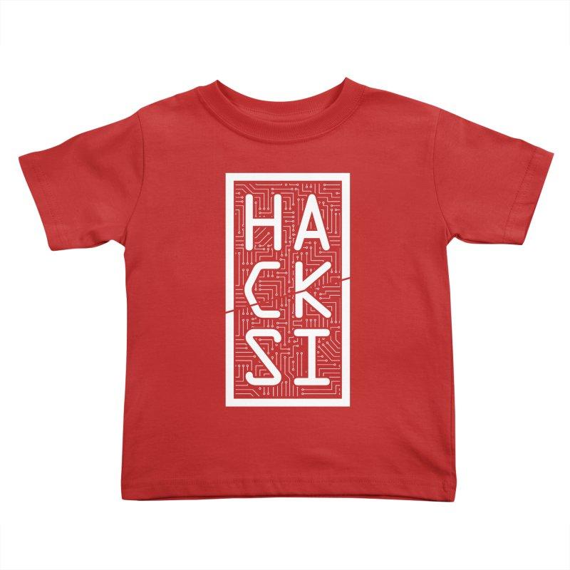White HackSI Logo Kids Toddler T-Shirt by The HackSI Shop