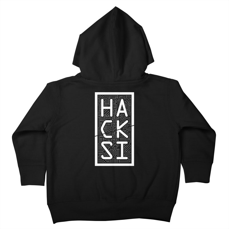 White HackSI Logo Kids Toddler Zip-Up Hoody by The HackSI Shop