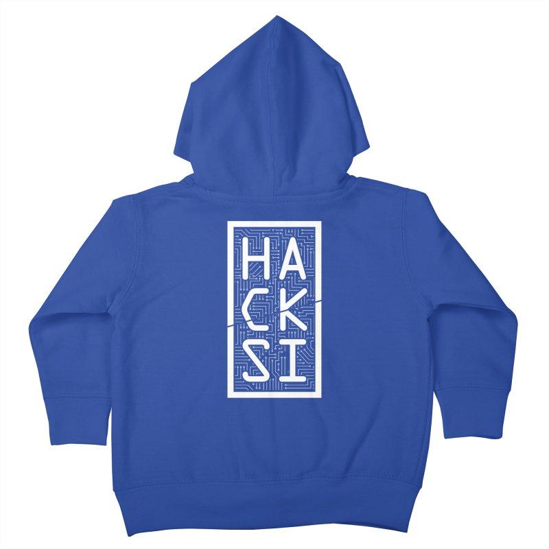 White HackSI Logo Kids Toddler Zip-Up Hoody by The HackSI Shop