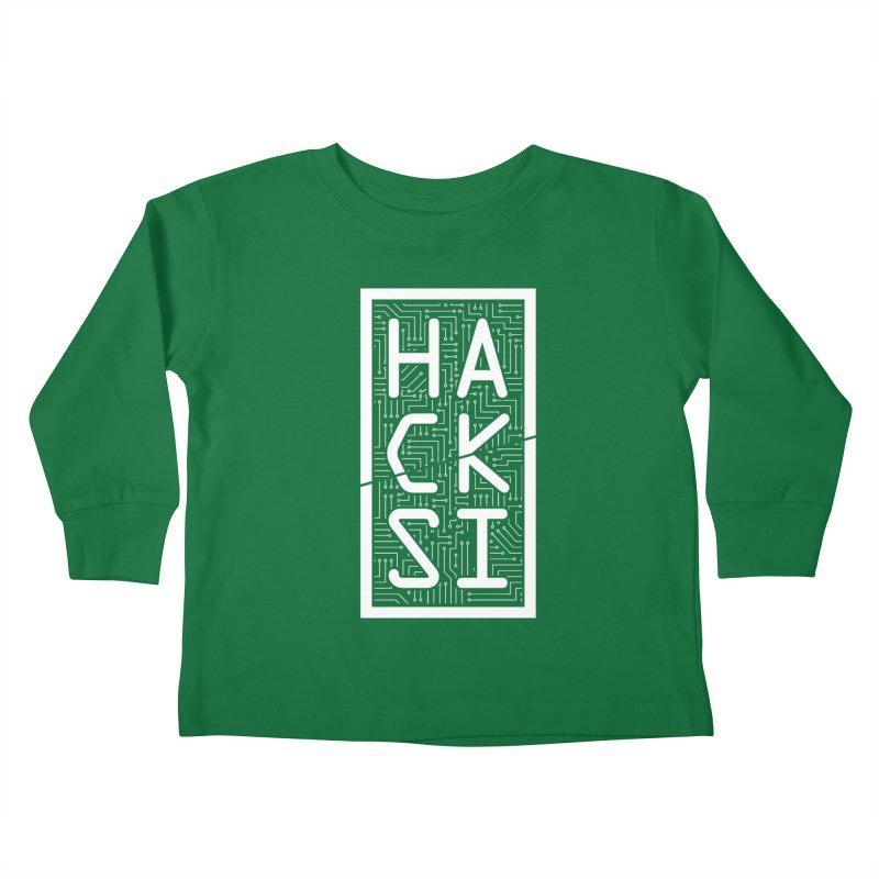 White HackSI Logo Kids Toddler Longsleeve T-Shirt by The HackSI Shop