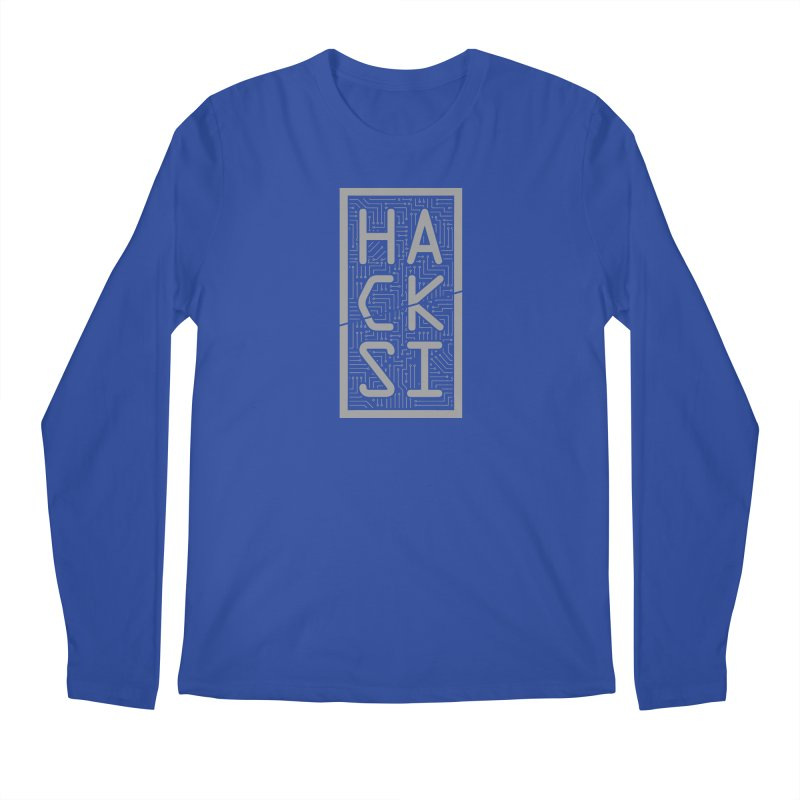 Gray HackSI Logo Men's Regular Longsleeve T-Shirt by The HackSI Shop