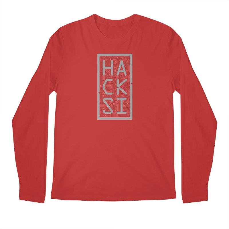 Gray HackSI Logo Men's Regular Longsleeve T-Shirt by The HackSI Shop