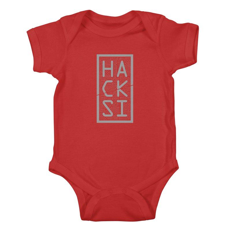 Gray HackSI Logo Kids Baby Bodysuit by The HackSI Shop