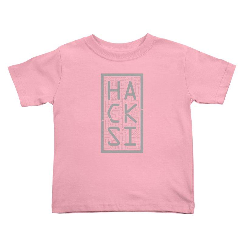 Gray HackSI Logo Kids Toddler T-Shirt by The HackSI Shop