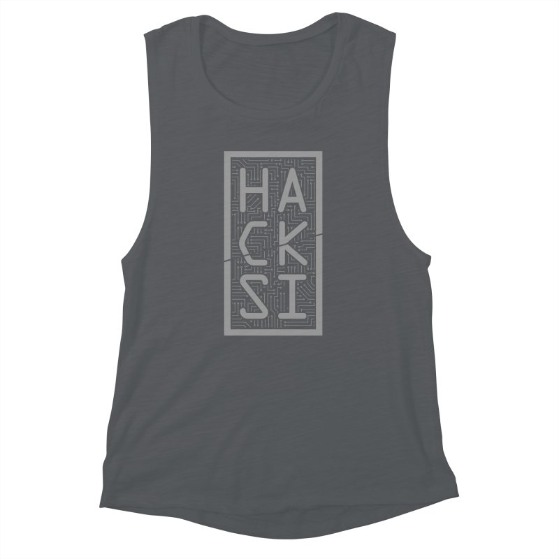 Gray HackSI Logo Women's Muscle Tank by The HackSI Shop