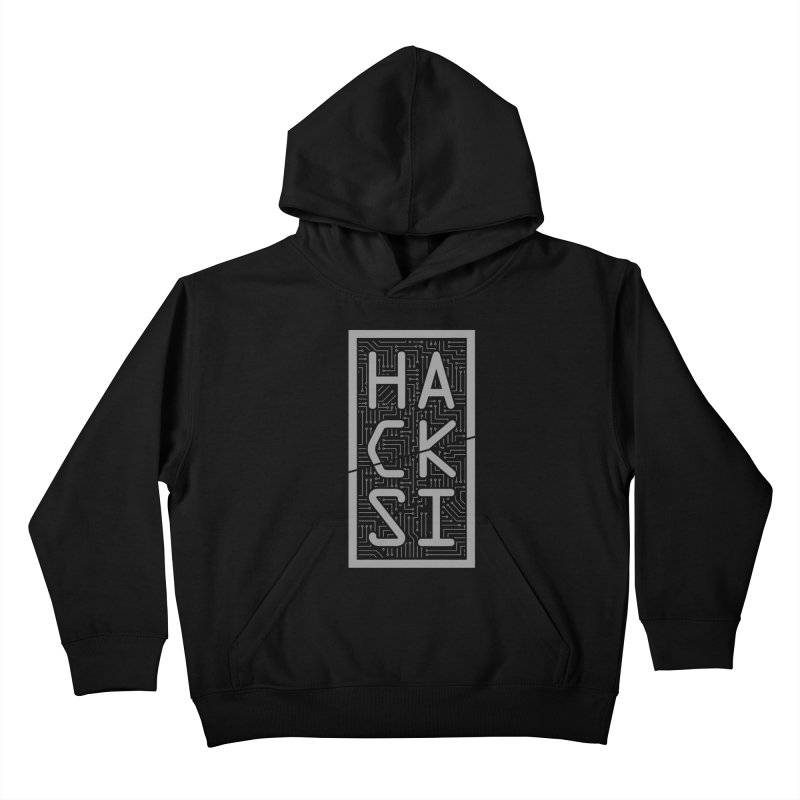 Gray HackSI Logo Kids Pullover Hoody by The HackSI Shop