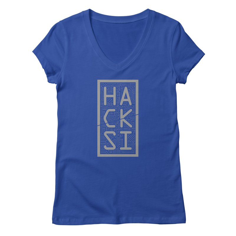 Gray HackSI Logo Women's Regular V-Neck by The HackSI Shop