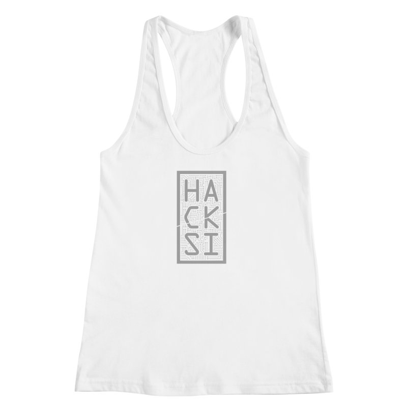 Gray HackSI Logo Women's Racerback Tank by The HackSI Shop