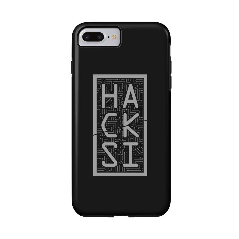 Gray HackSI Logo Accessories Phone Case by The HackSI Shop