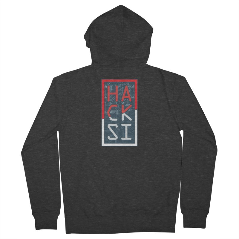 Color HackSI Logo in Men's French Terry Zip-Up Hoody Smoke by The HackSI Shop