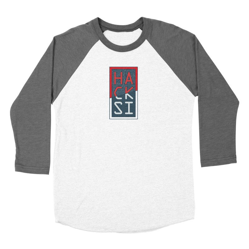 Color HackSI Logo Women's Baseball Triblend Longsleeve T-Shirt by The HackSI Shop