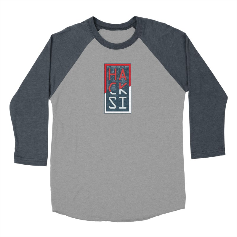 Color HackSI Logo Men's Baseball Triblend Longsleeve T-Shirt by The HackSI Shop