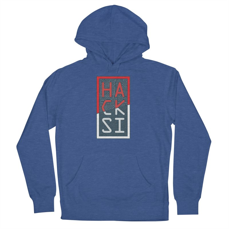 Color HackSI Logo Men's French Terry Pullover Hoody by The HackSI Shop