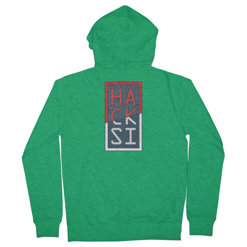 Color HackSI Logo Women's Zip-Up Hoody by The HackSI Shop