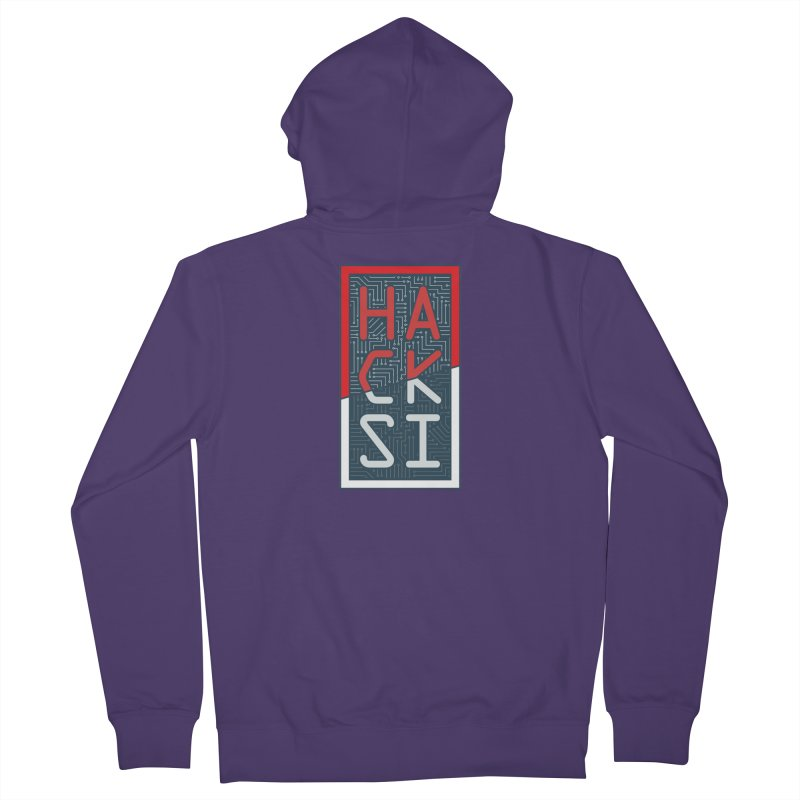 Color HackSI Logo Women's French Terry Zip-Up Hoody by The HackSI Shop