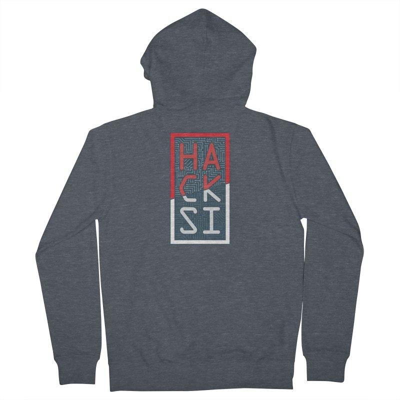Color HackSI Logo Men's Zip-Up Hoody by The HackSI Shop