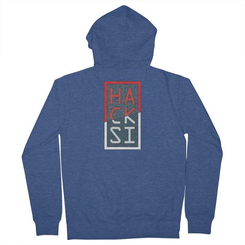 Color HackSI Logo Men's French Terry Zip-Up Hoody by The HackSI Shop