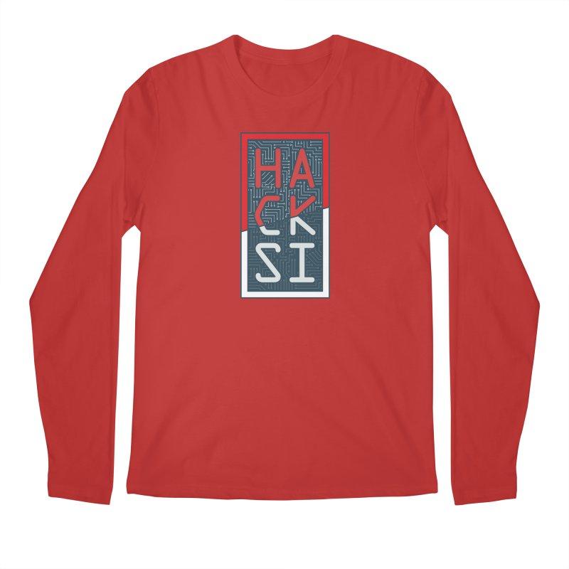 Color HackSI Logo Men's Regular Longsleeve T-Shirt by The HackSI Shop