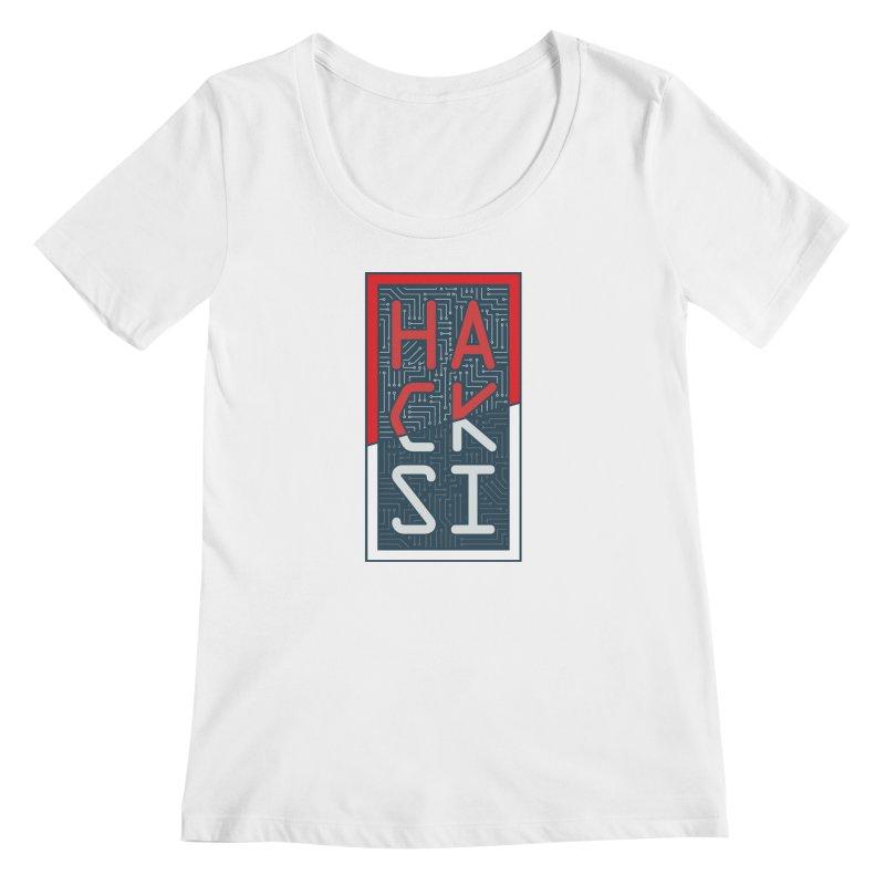 Color HackSI Logo Women's Regular Scoop Neck by The HackSI Shop