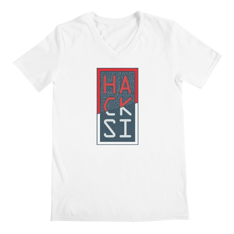 Color HackSI Logo Men's V-Neck by The HackSI Shop