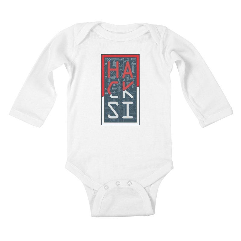 Color HackSI Logo Kids Baby Longsleeve Bodysuit by The HackSI Shop