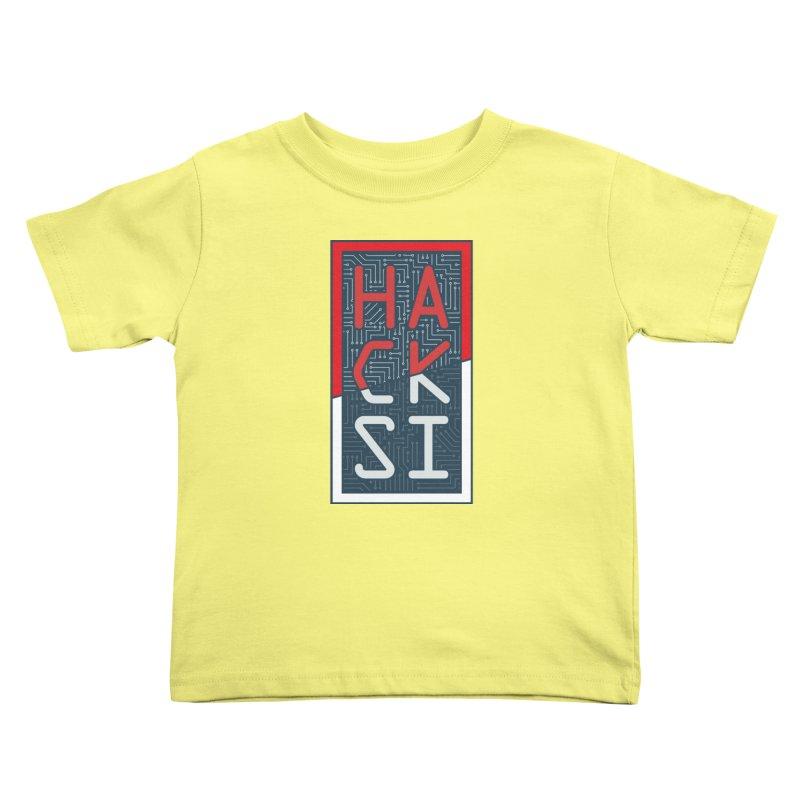 Color HackSI Logo Kids Toddler T-Shirt by The HackSI Shop