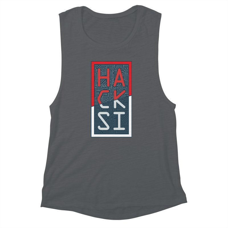 Color HackSI Logo Women's Muscle Tank by The HackSI Shop