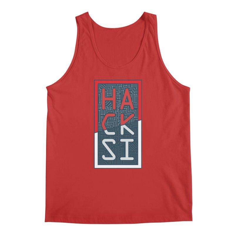 Color HackSI Logo Men's Regular Tank by The HackSI Shop