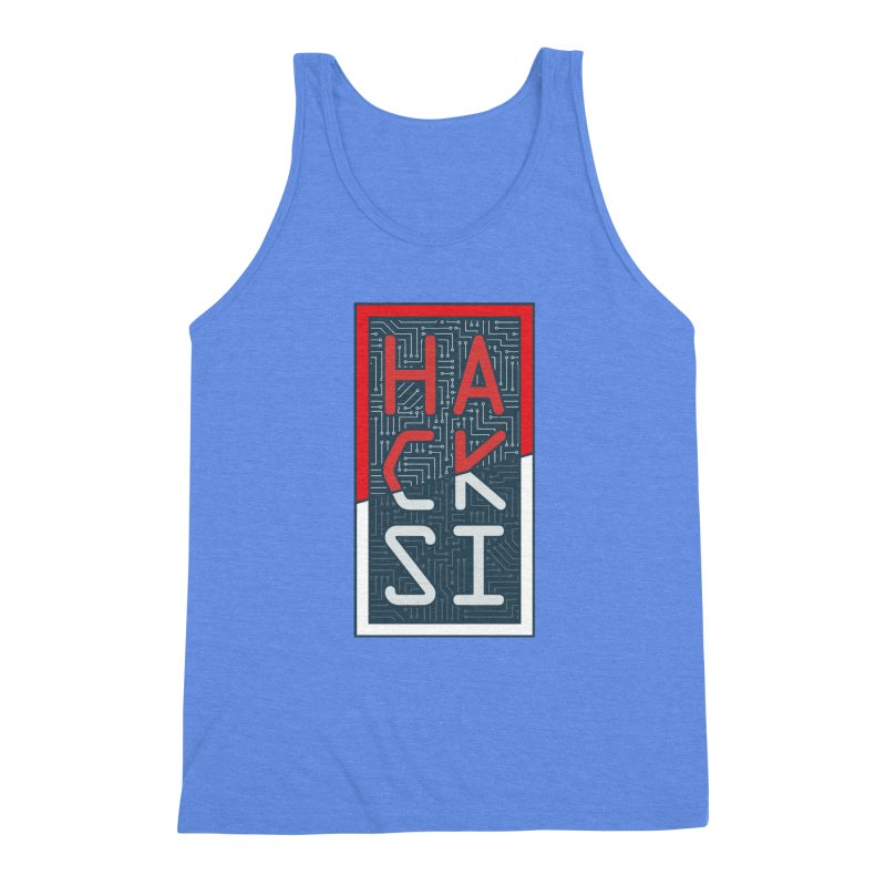 Color HackSI Logo Men's Triblend Tank by The HackSI Shop
