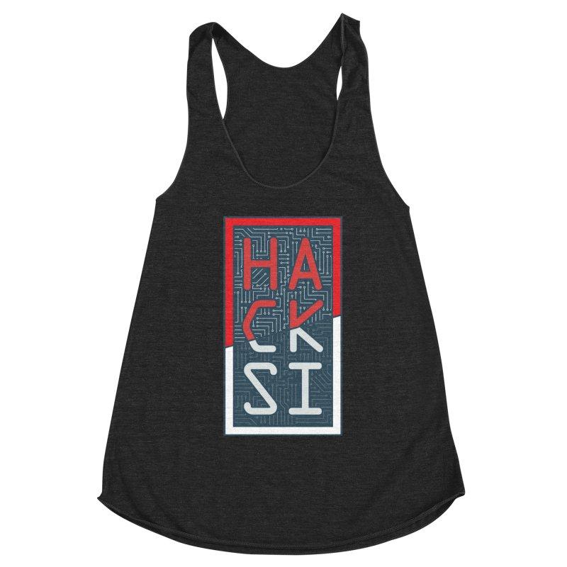 Color HackSI Logo Women's Racerback Triblend Tank by The HackSI Shop