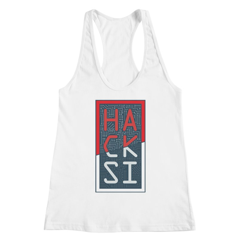 Color HackSI Logo Women's Racerback Tank by The HackSI Shop