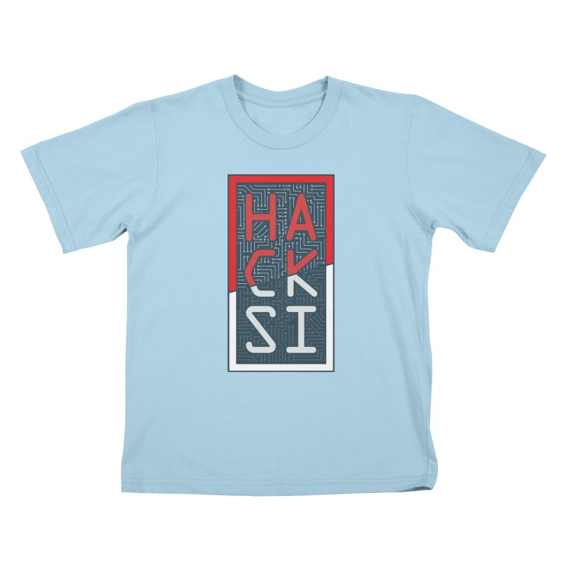 Color HackSI Logo Kids T-Shirt by The HackSI Shop