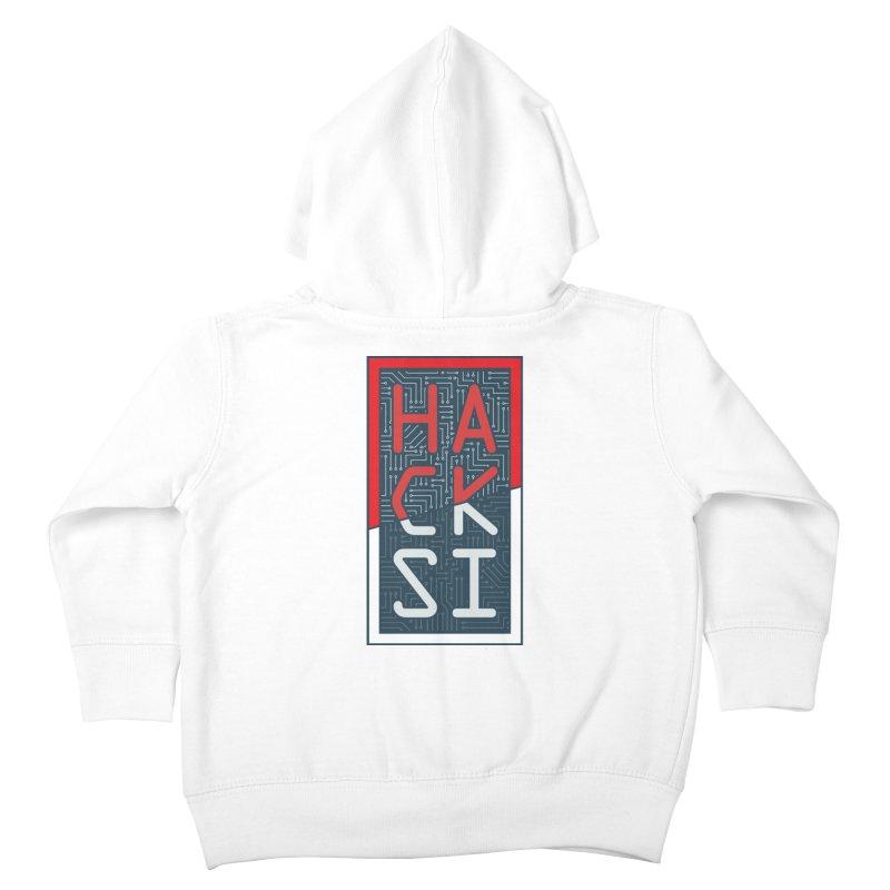 Color HackSI Logo Kids Toddler Zip-Up Hoody by The HackSI Shop