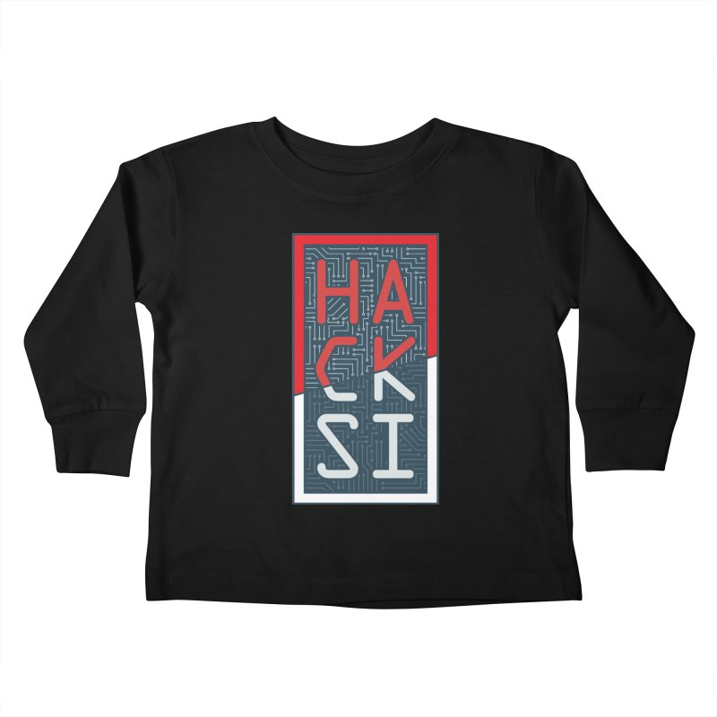 Color HackSI Logo Kids Toddler Longsleeve T-Shirt by The HackSI Shop