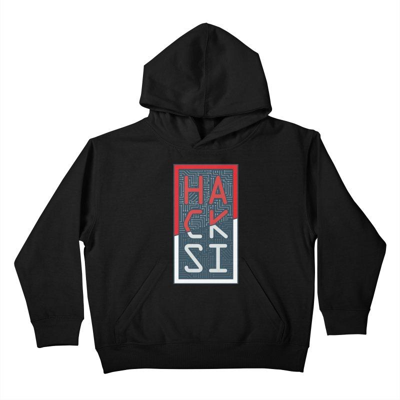 Color HackSI Logo Kids Pullover Hoody by The HackSI Shop