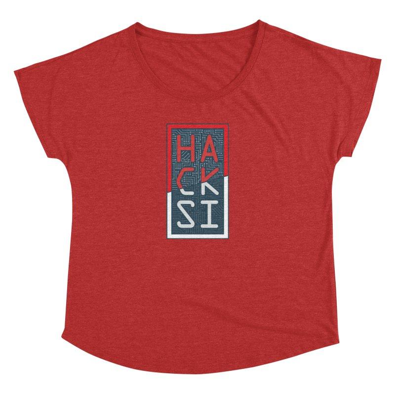 Color HackSI Logo Women's Dolman Scoop Neck by The HackSI Shop