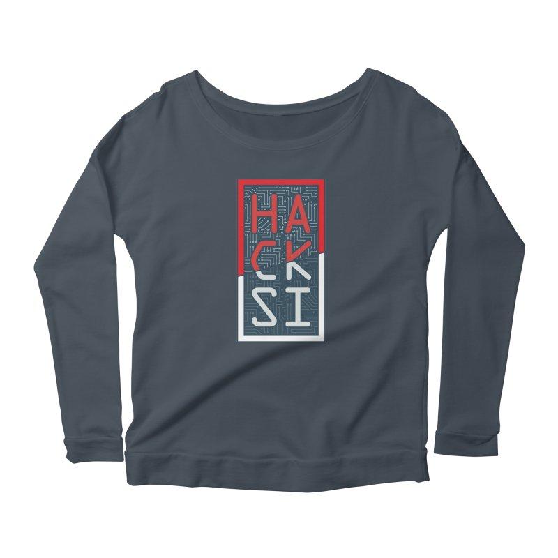 Color HackSI Logo Women's Scoop Neck Longsleeve T-Shirt by The HackSI Shop