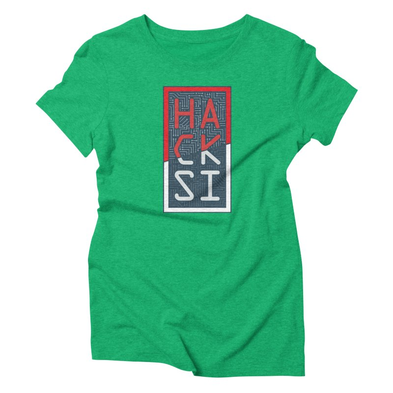 Color HackSI Logo Women's Triblend T-Shirt by The HackSI Shop