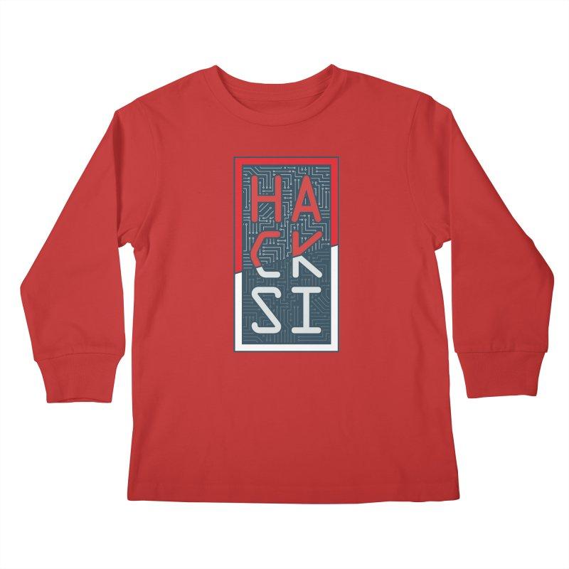 Color HackSI Logo Kids Longsleeve T-Shirt by The HackSI Shop