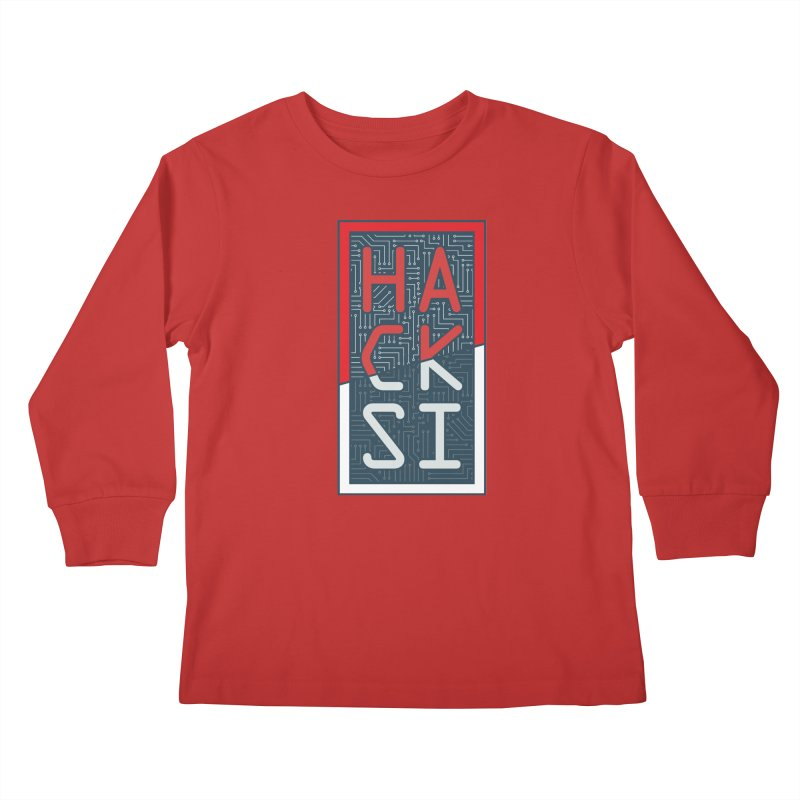 Color HackSI Logo Kids Longsleeve T-Shirt by The HackSI Shop