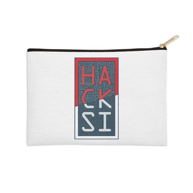 Color HackSI Logo Accessories Zip Pouch by The HackSI Shop
