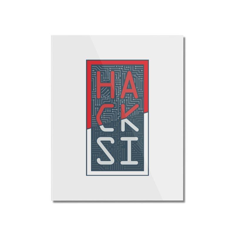 Color HackSI Logo Home Mounted Acrylic Print by The HackSI Shop