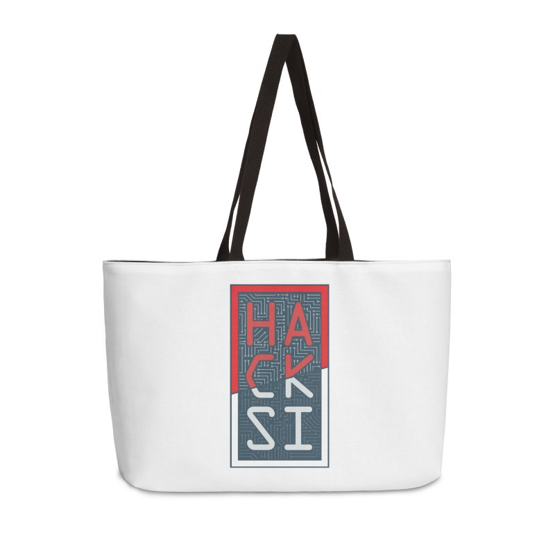 Color HackSI Logo Accessories Weekender Bag Bag by The HackSI Shop
